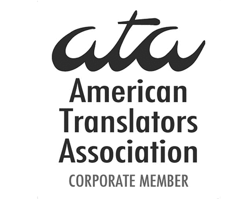 Logo: American Translators Association Corporate Member